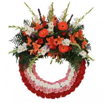 Corona de flor natural aro...