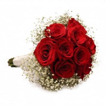 Ramo de rosas y flor variada